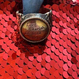 Fine Print ring by Silpada, silver